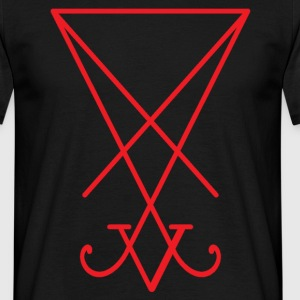 Sigil_of_Lucifer_red.png T-Shirts - Männer T-Shirt