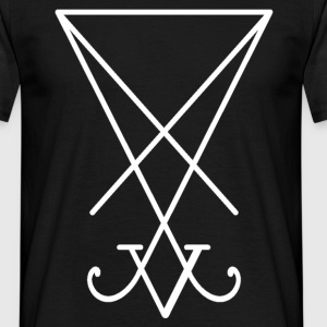 Sigil_of_Lucifer_white.png T-Shirts - Männer T-Shirt