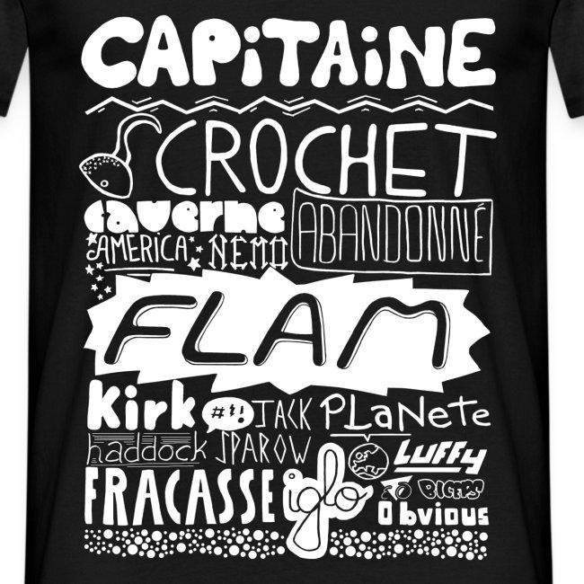 T-shirt Capitaine Homme (noir)