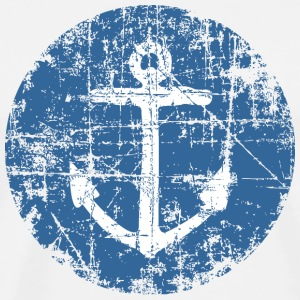 Anchor Sign Vintage Blue Sailing Design Koszulki - Koszulka męska Premium