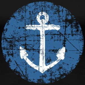 Anchor Sign Vintage Blue Sailing Design T-shirts - Dame premium T-shirt