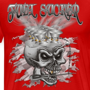 Fuel Sucker Racing Skull T-Shirts - Männer Premium T-Shirt