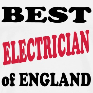 Best electrician of England 222 T-skjorter - Premium T-skjorte for menn