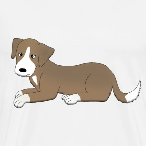sad dog T-shirts - Herre premium T-shirt