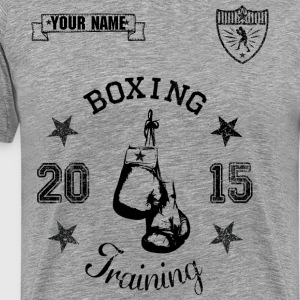 Personalised BOXING TRAINING Shirt  - Mannen Premium T-shirt