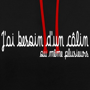 Besoin d'un calin Sweat-shirts - Sweat-shirt contraste