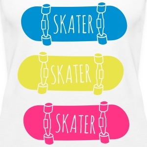 Skater Skateboards pattinatore skateboards Top - Canotta premium da donna