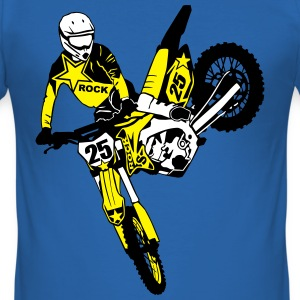 Moto Cross - motocross  T-shirts - Slim Fit T-shirt herr