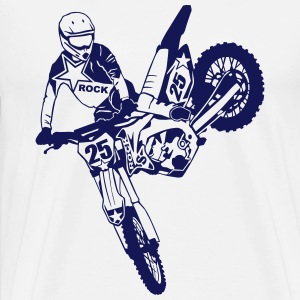 Moto Cross - motocross   T-Shirts - Men's Premium T-Shirt