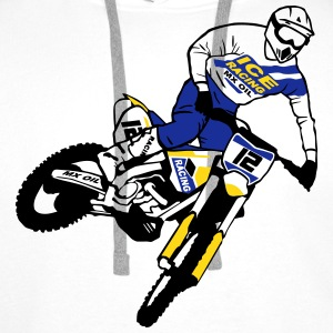 Moto Cross - motocross   Sweat-shirts - Sweat-shirt à capuche Premium pour hommes