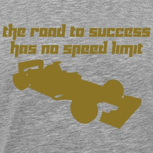 The road to success has no speed limit (Vector) - Men's Premium T-Shirt