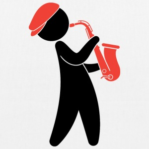 A jazz musician playing on the saxophone Bags & Backpacks - EarthPositive Tote Bag