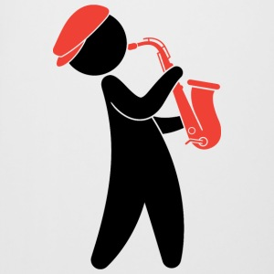 A jazz musician playing on the saxophone Mugs & Drinkware - Beer Mug