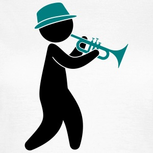 A jazz musician plays the trumpet T-Shirts - Women's T-Shirt