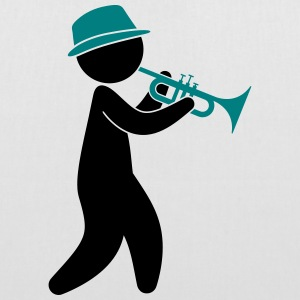 A jazz musician plays the trumpet Bags & Backpacks - Tote Bag