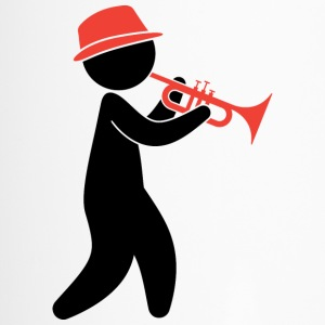 A jazz musician plays the trumpet Mugs & Drinkware - Travel Mug