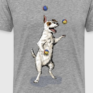 Terrier Juggling Tee shirts - T-shirt Premium Homme