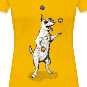 Terrier Juggling T-Shirts - Frauen Premium T-Shirt