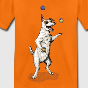Oranje Terrier juggling dog Shirts - Kinderen Premium T-shirt