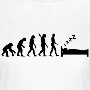 Evolution Schlafen T-Shirts - Frauen T-Shirt
