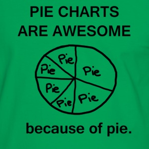 Pie Charts are Awesome Tee - Men's Ringer Shirt