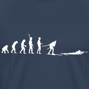 Evolution Biathlon lying Shooting T-Shirts - Men's Premium T-Shirt