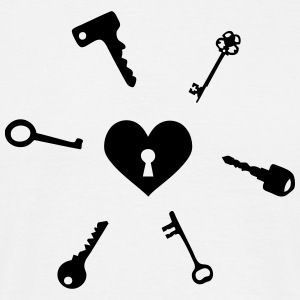 keys to my heart T-skjorter - T-skjorte for menn