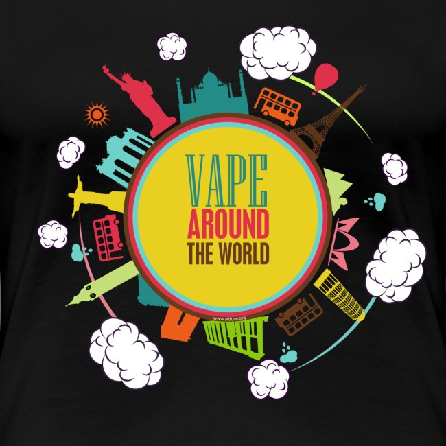 "T-Shirt ""Vape around the world"" Femme"