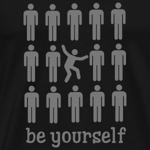 Be Yourself T-shirts - Mannen Premium T-shirt