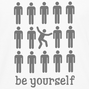 Be Yourself Long sleeve shirts - Men's Premium Longsleeve Shirt