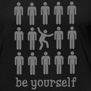Be Yourself Long Sleeve Shirts - Women's Premium Longsleeve Shirt