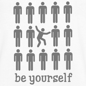 Be Yourself T-shirts - T-shirt med v-ringning herr
