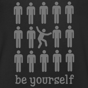Be Yourself T-shirts - Mannen T-shirt met V-hals