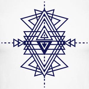 un motif géométrique tatouage Manches longues - T-shirt baseball ...