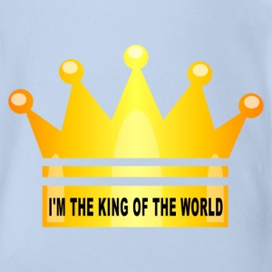 king of the world Shirts - Organic Short-sleeved Baby Bodysuit