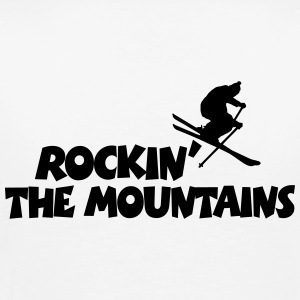 Rockin' the Mountains Skifahrer T-Shirt (Herren) R - Männer Premium T-Shirt