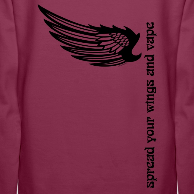 """Sweat-shirt à capuche """"Spread your wings and vape"""" Femme"""