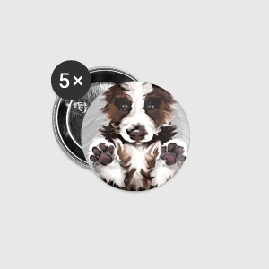 Aussie Puppy Buttons - Buttons small 25 mm