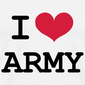 I Love Army T-Shirts - Men's Premium T-Shirt