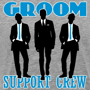 Groom Support Crew T-Shirts - Men's Premium T-Shirt