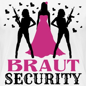 Braut Security JGA T-Shirts - Frauen Premium T-Shirt