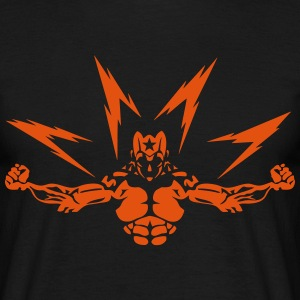 super heros eclair muscle 0 bodybuilder Tee shirts - T-shirt Homme