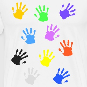 Colorful handprints T-Shirts - Men's Premium T-Shirt