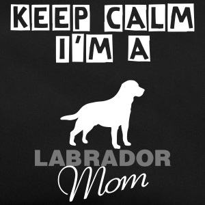 keep calm i'm a Labrador Mom Borse & zaini - Borsa retrò