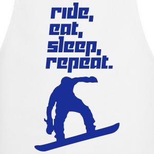 Ride, eat, sleep, repeat. 2 (Vector) - Cooking Apron