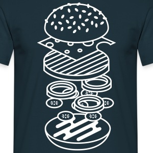 Navy burger T-Shirts - Men's T-Shirt