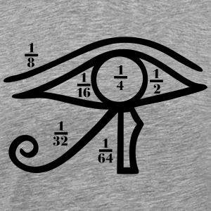 Eye of Horus, Heqat, Fractional Numbers, Egypt T-skjorter - Premium T-skjorte for menn