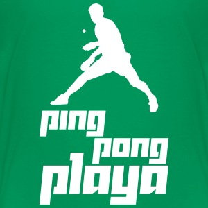 Ping Pong Playa (Vector) - Teenage Premium T-Shirt