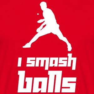 I smash balls (Vector) - Men's T-Shirt