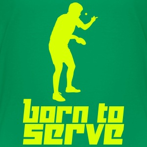 Born to Serve (Vector) - Teenage Premium T-Shirt